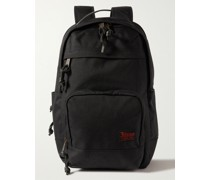 Dryden Leather-Trimmed Camouflage-Print CORDURA Backpack