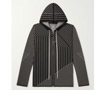 Jason Striped Virgin Wool-Blend Zip-Up Hoodie