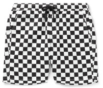 Range Checkerboard Cotton-Twill Drawstring Shorts