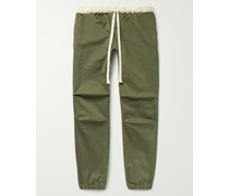 Gym Tapered Stretch-Cotton Twill Drawstring Trousers