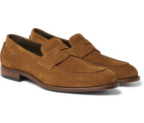 Stofer Suede Penny Loafers
