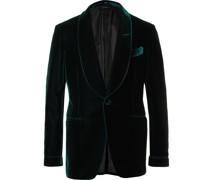 Slim-Fit Shawl-Collar Velvet Tuxedo Jacket