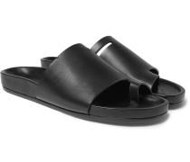 Octavia Leather Slides