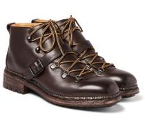 Alvis Pebble-grain Leather Boots