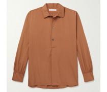 Julian Cotton and Silk-Blend Half-Placket Shirt