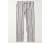 Night & Day Striped Cotton and Lyocell-Blend Twill Pyjama Trousers