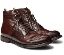 Anatomia Cap-toe Distressed Leather Boots