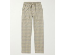 Heritage Checked Cotton and Wool-Blend Pyjama Trousers