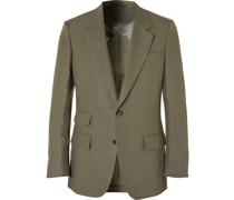 Slim-Fit Linen Suit Jacket