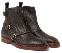 Grained-leather Monk-strap Boots