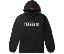 Oversized Printed Fleece-Back Cotton-Blend Jersey Hoodie