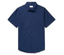 Albert Garment-Dyed Cotton-Voile Shirt