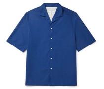 Eren Camp-Collar Organic Cotton-Poplin Shirt