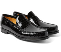 Patent-leather Penny Loafers