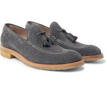 Algy Suede Tasselled Loafers