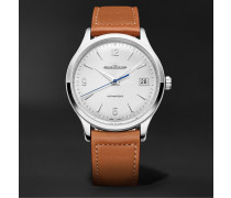Master Control Date Automatic 40mm Stainless Steel and Leather Watch, Ref No. 4018420