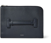Grained-leather Pouch