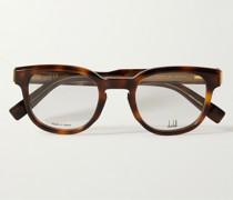 Square-Frame Tortoiseshell Acetate and Gold-Tone Optical Glasses