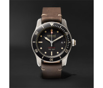 Supermarine Type 301 Automatic Chronometer 40mm Stainless Steel and Leather Watch, Ref. No. S301/BK