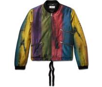 Tie-dyed Silk-satin Bomber Jacket
