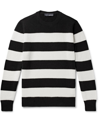 Slim-Fit Striped Wool and Cashmere-Blend Sweater