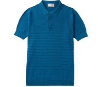 Zuber Striped Knitted Cotton Polo Shirt