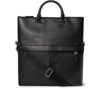 Fold-over Full-grain Leather Tote Bag
