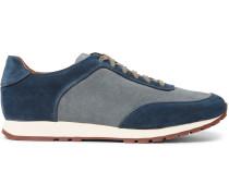 Weekend Walk Two-tone Suede Sneakers