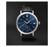 Portofino Hand-Wound Eight Days 45mm Stainless Steel and Alligator Watch, Ref. No. IW510106MSNET60
