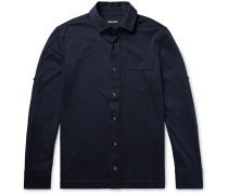 Slim-fit Brushed Cotton-jersey Shirt