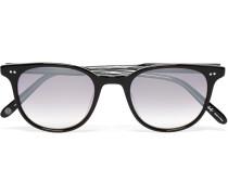 Wellesley D-frame Acetate Mirrored Sunglasses