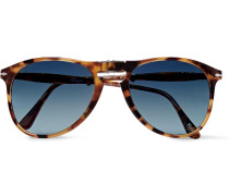 Aviator-style Tortoiseshell Acetate Folding Sunglasses