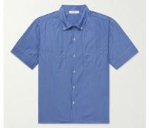 Button-Down Collar Striped Cotton-Poplin Shirt