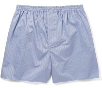 Striped Mercerised Cotton Boxer Shorts