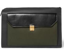 Colour-block Leather Pouch