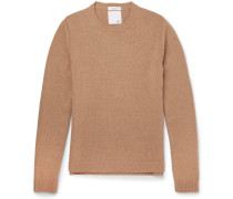 Slim-fit Studded Camel Hair Sweater