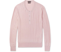 Ribbed Cashmere And Silk-blend Henley Sweater