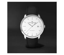 1966 Automatic 40mm Stainless Steel and Croc-Effect Leather Watch, Ref. No. 49555-11-131-BB60