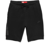 Slim-fit Tapered Cotton-blend Tech Fleece Shorts