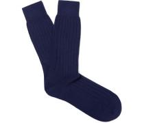 Ribbed Cashmere Bed Socks