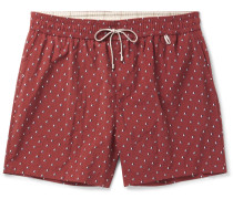 Slim-fit Mid-length Printed Swim Shorts