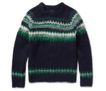 Fair Isle Brushed Alpaca-blend Sweater