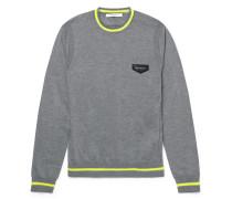 Neon-stripe Wool Sweater