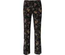 Floral-jacquard Trousers