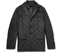 London Convertible Quilted Virgin Wool Jacket