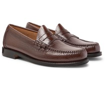 Weejuns Larson Croc-Effect Leather Penny Loafers