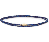 Gold, Sapphire and Bead Necklace