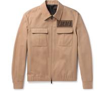 Appliquéd Twill Blouson Jacket