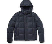 Quilted Checked Wool And Cashmere-blend Down Jacket