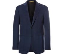 Blue Kei Slim-fit Unstructured Cashmere Blazer